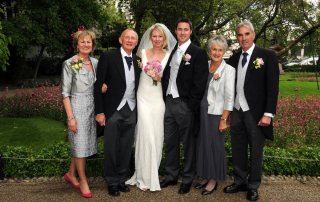 Parents_group_wedding_photo_at_whitehall_gardens_royal_horseguards_hotel